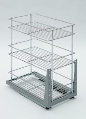 Plnovýsuvný trojkoš Komfort spodní s tlumeným dovřením, 158x465x513 mm, chrom(1002225001)