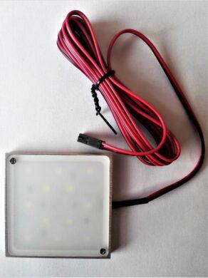 Světlo LED Wireli SQUARE FROST 2,5W bílá teplá (vrut/3M)(3201008607)