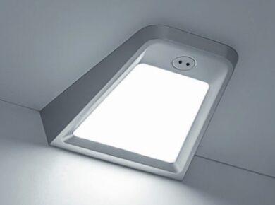 LED svítidlo JUNO hliník, s vypínačem pohybovým, bílá neutrální 2W 170 lm(3201071607)