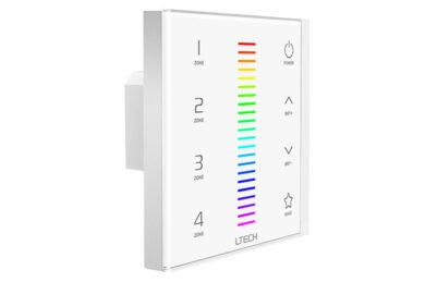 Dotykový čtyřzónový ovladač RGB na stěnu RF+DMX512(3204000392)