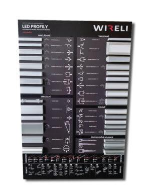 Vzorková tabule s LED profily WIRELI 2021(3205130120)