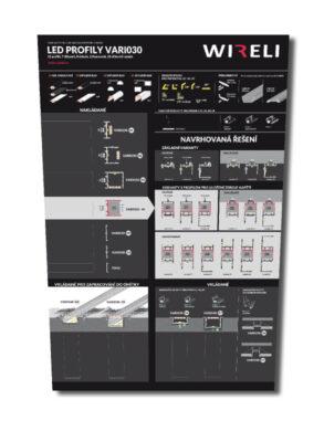 Vzorková tabule s LED profily WIRELI VARIO 2020(3205140120)
