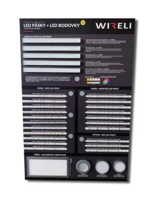 Vzorková tabule s LED pásky WIRELI 2020(3205180120)