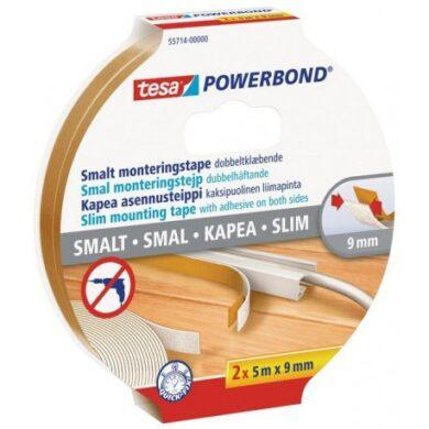 2x Oboustranná lepicí páska Tesa Powerbond 9x2 mm 5 m bílá(3211017609)