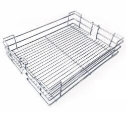 Koš pro potravinovou skříň, 400, drátěný, 340x460x95 mm, chrom