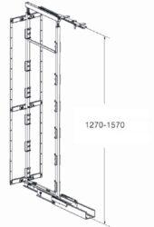 Výškově stavitelný rám k potravinové skříni, 1270-1570x500mm, 4 koše(1001045202)