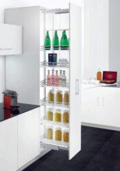 Rám k potravinové skříni Elegance, 6 košů-Výškově stavitelný rám k potravinové skříni, 1870-2170x500mm, 6 košů