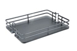 Koš Elegance pro potravinovou skříň, 300, plné dno, 255x460x95 mm, antracit
