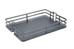 Koš Elegance pro potravinovou skříň, 450, plné dno, 390x460x95 mm, antracit