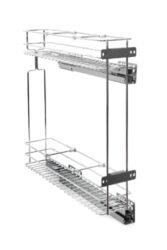 Plnovýsuvný dvojkoš boční Komfort s tlum. dovřením, Levý, 110x470x570 mm, chrom