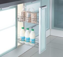 Plnovýsuvný dvojkoš boční Komfort s tlum. dovřením, Levý, 160x485x543 mm, chrom(1002248001)