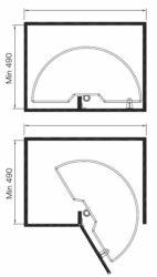 Karusel 180° Elegance, plné dno, 750x400x570-710 mm, chrom(1002805001)