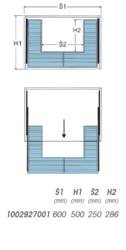 Koš Elegant pod dřez - 600, 564-568x477x170 mm, chrom(1002927001)