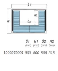 Plnovýsuvný koš pod dřez Komfort s tlum.dovřením a krytem výsuvu, 830-877x480x15(1002979001)