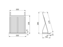 Závěsná police Titane na tablet / knihu, 222x102x280 mm, antracit(1005006602)