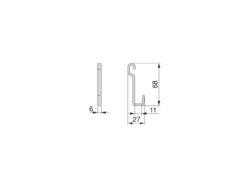 Háček Titane, 6x27x68 mm, antracit(1005007602)