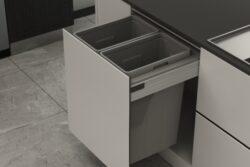 Odpadkový 2-koš Elegance, 2x35 l, 562-568x506x570, K60-šedý plast