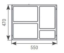 Odpadkový koš SLIM 600, 3x8 + 1x2,8 l, antracit, plast(1007182602)