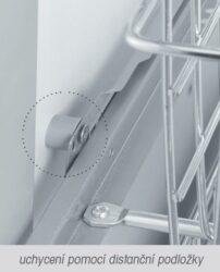 distanční podložka k šatním košům - průměr 15x10 mm, šedý plast(2002001602)