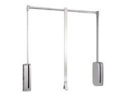Sklopná šatní tyč SLING - antracit, 450-600x126x840 mm