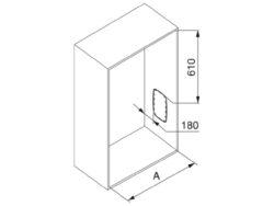 Sklopná šatní tyč SLING - chrom, šedý plast 830-1150x126x840 mm(2004012001)