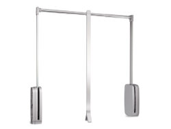 Sklopná šatní tyč SLING - bílá, 830-1150x126x840 mm