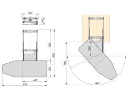 Výsuvné, otočné žehlící prkno(2005041001)