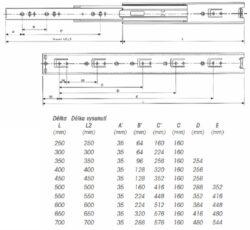 Ložiskový plnovýsuv 450mm(3102105004)