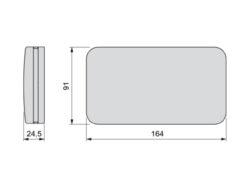 Krýt pro sklopný mechanismus pro dvířka Miniwinch, černý(3103106600)