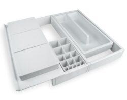 Rozdělovník ONDA 350 do zásuvky, nastavitelný 307-402x322x69 mm, plast, bílý