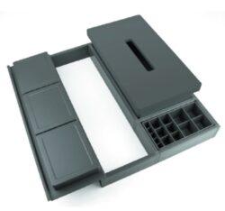 Rozdělovník ONDA 400 do zásuvky, nastavitelný 288-378x372x69 mm, plast, bílý