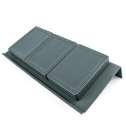 Rozdělovník ONDA 350 do zásuvky, 3 mísky, 146x322x69 mm, plast, bílý