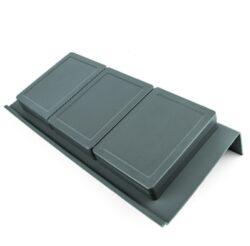 Rozdělovník ONDA 350 do zásuvky, 3 mísky, 146x322x69 mm, plast, antracit