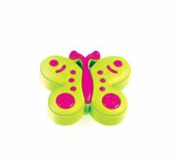 Knopka dětská GD07 - Motýl zelený, plast