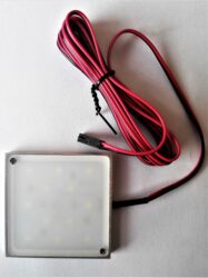 Světlo LED SQUARE DIFUZOR JEMNĚ MATNÝ 60x60x6mm 2,5W bílá studená (vrut/lepení)-Kvalitní LED svítidlo Wireli. Montáž lepením 3M páskou nebo dvěma vruty.