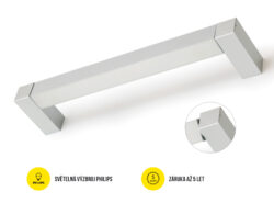LED svítidlo přisaz.otoč PHIL53 BO 1237 mm 230V OPÁL C10C neutrál, 4400 lm bílá