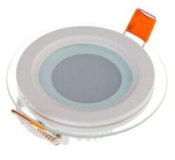 LED svítidlo vestavné Glass prům.100 mm 6W teplá bílá 420 lm