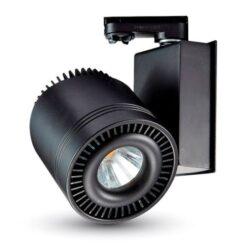 LED projektor 4-fázový pro lištový systém černý 45Wteplá bílá 2300 lm