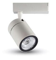 LED projektor 4-fázový pro lištový systém bílý 35W studená bílá 2500 lm