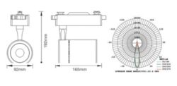 LED projektor 4-fázový pro lištový systém černý 35W studená bílá 2500 lm(3201630608)