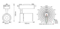 LED projektor 4-fázový pro lištový systém černý 35W neutrální bílá 2500 lm(3201631608)