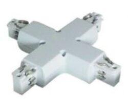 Spojka křížová pro 4-polovou lištu bílá