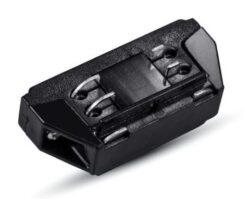 Spojka přímá mini pro 4-polovou lištu černá