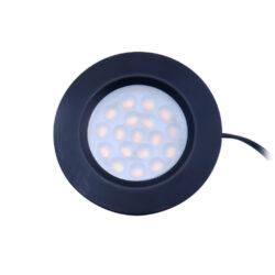 LED svítidlo LIMA černé 1,5W 100lm 70x12mm bílá teplé