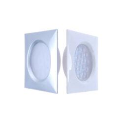 LED svítidlo INDIA hliník 1,5W 100lm 65x65x13mm bílá studená