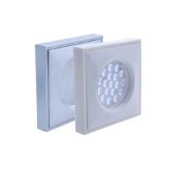 LED svítidlo IMOLA hliník 1,5W 100lm 73x73x13mm bílá studená