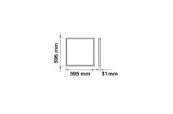 LED panel 600x600 mm 40W bílá neutrální 4000 lm IP65(3201794607)
