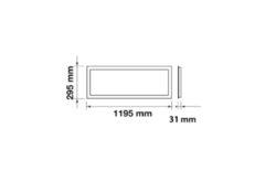 LED panel 1200x300 mm 40W bílá neutrální 4000 lm(3201800607)