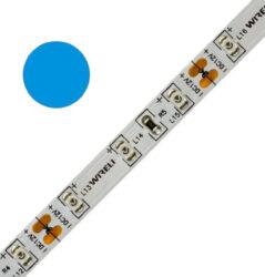 Color LED pásek WIRELI 3528  60 470nm 4,8W 0,4A 12V (modrá)-Standardní barevný LED pásek malého výkonu.