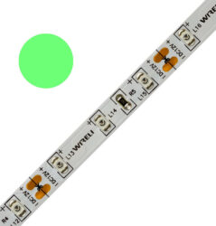 Color LED pásek WIRELI 3528  60 525nm 4,8W 0,4A 12V (zelená)-Standardní barevný LED pásek malého výkonu.